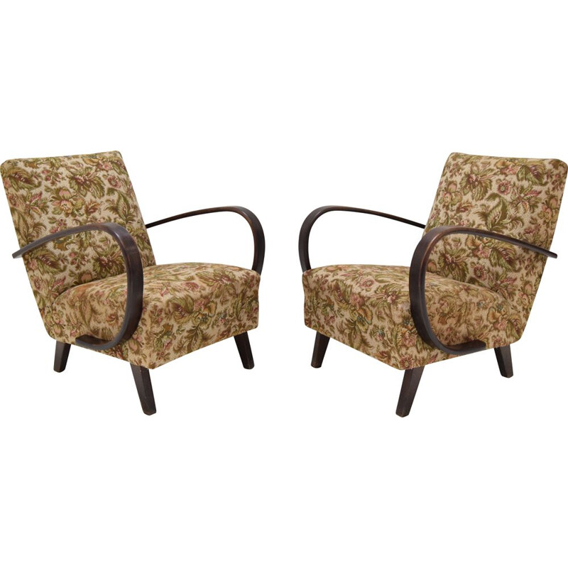 Pair of vintage Armchairs by Jindrich  Halabala,1950s