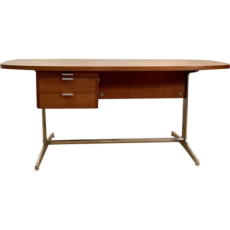 Vintage mahogany desk by George Nelson for Mobilier International, 1970