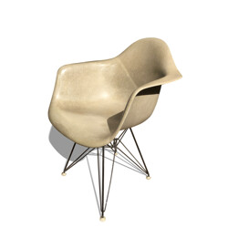 Herman Miller greige armchair, Charles and Ray EAMES - 1970s