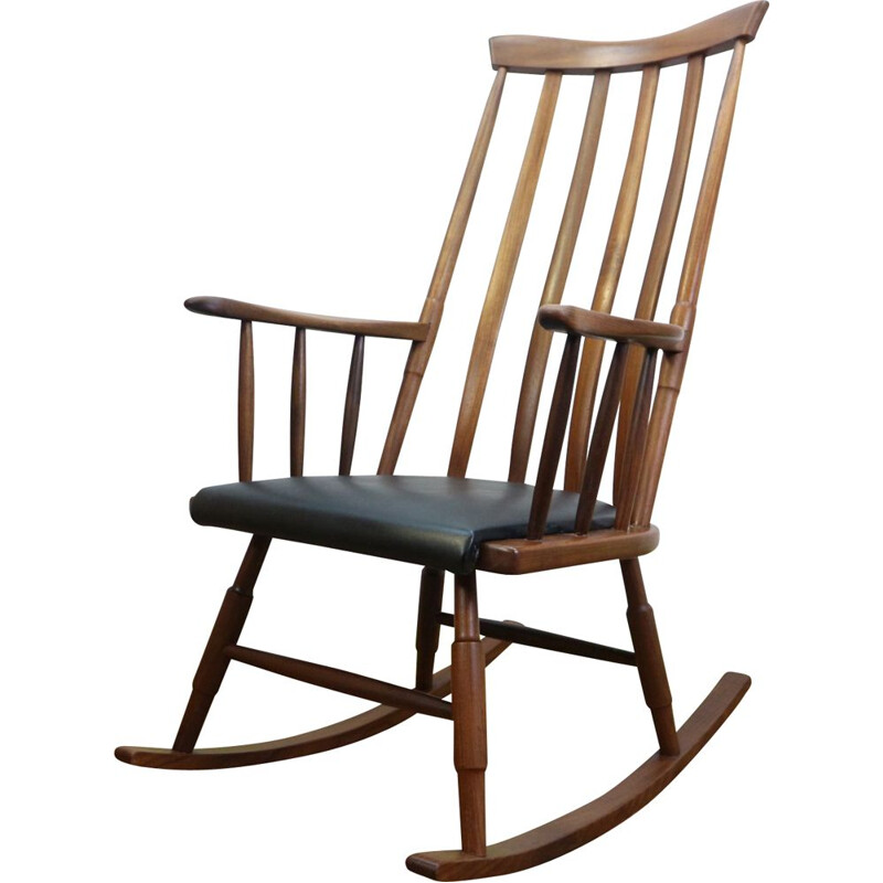 Vintage Rocking Chair by Gio Ponti, Scandinavian