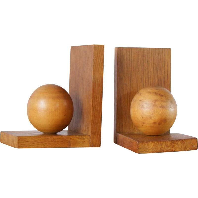 Pair of vinage Wooden Bookends