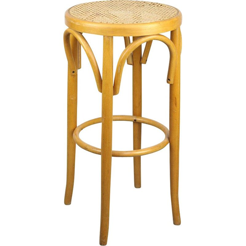 Vintage Thonet bentwood bar stool