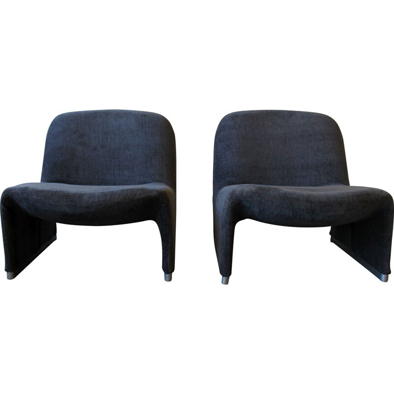 Pair of vintage Alky armchairs by Giancarlo Piretti for Castelli 1969