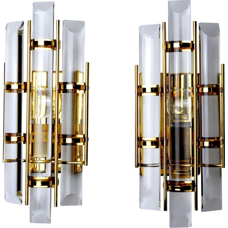 Pair of vintage sconces by Venini, Italy 1970