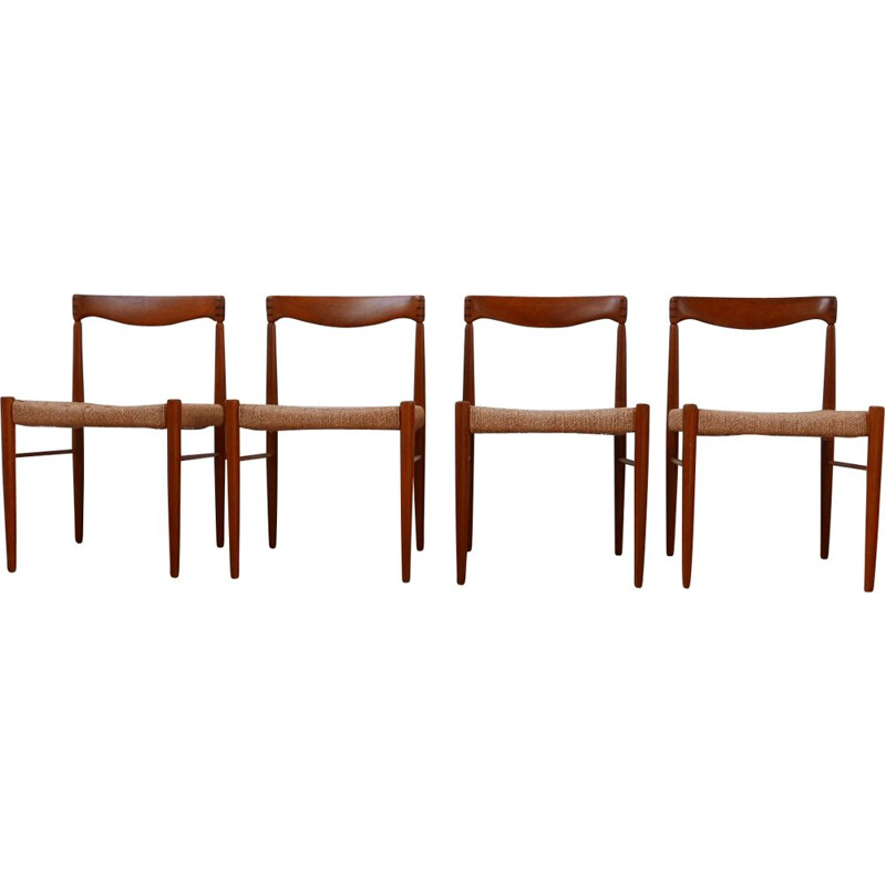 Set of 4 midcentury Dining Chairs by W.H. Klein for Bramin 1960s