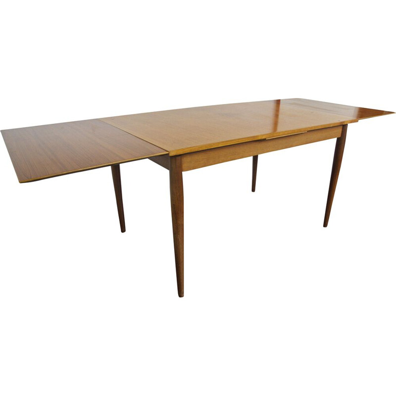 Vintage Extendable Teak Dining Table By Lübke For 6 To 10 Persons Danish 1960s