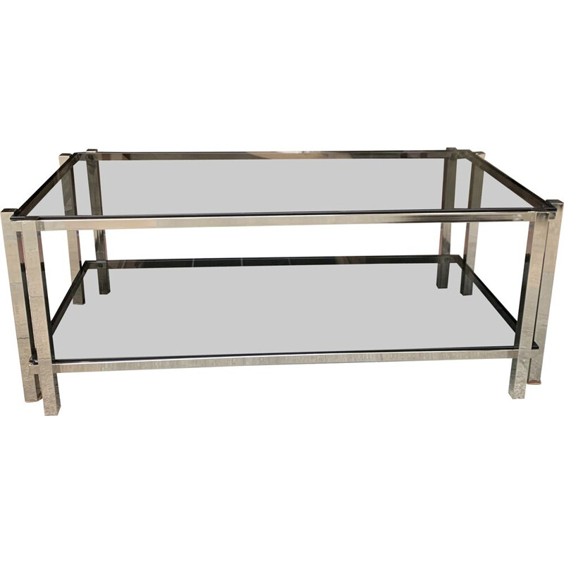 Vintage double top coffee table 1980