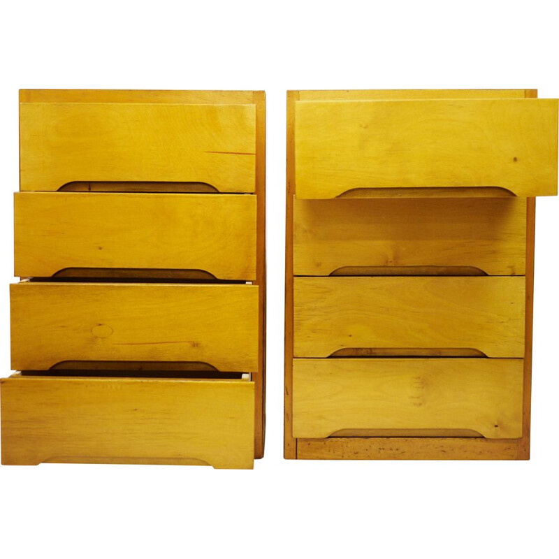 Pair of vintage chests of drawers by B Linden 1960