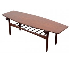 Scandinavian teak coffee table - 1960s