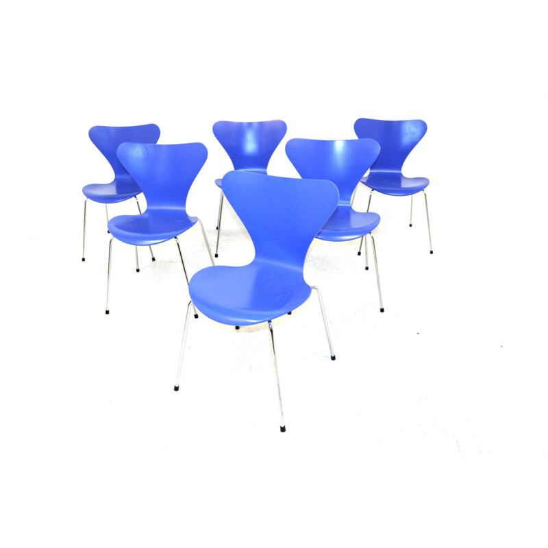 6 vintage chairs by Arne Jacobsen Denmark 1950