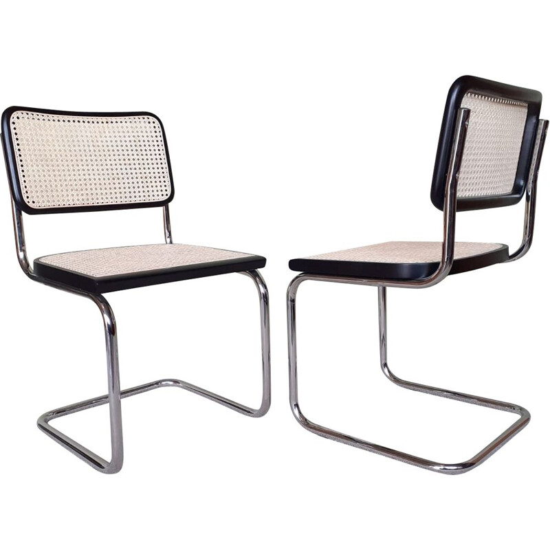 Pair of vintage chairs by Marcel Breuer Italy