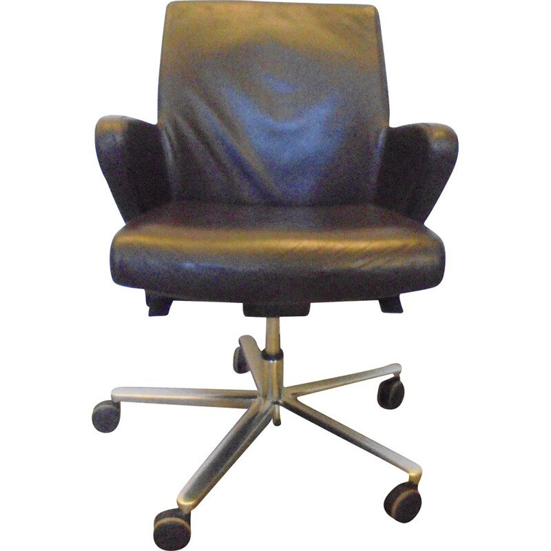 Vintage leather office chair Italy 2000s
