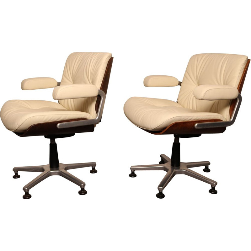 Pairs of vintage office chairs by Karl Dittert Switzerland 1960