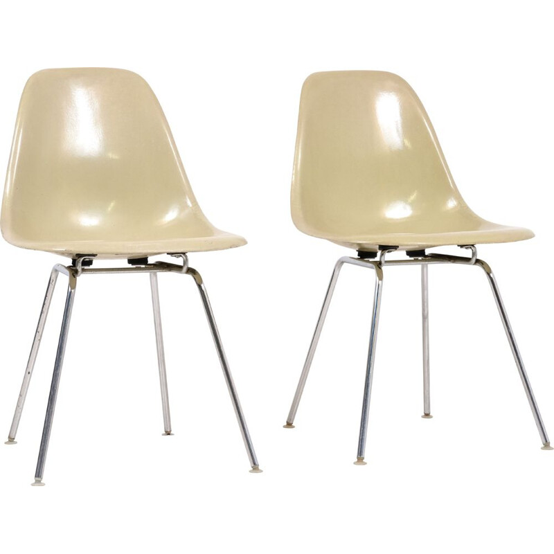 Pair of 1960's vintage DSR chairs