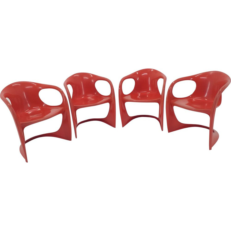 Set of 4 chairs vintage by Alexander Begge Germany 1970s