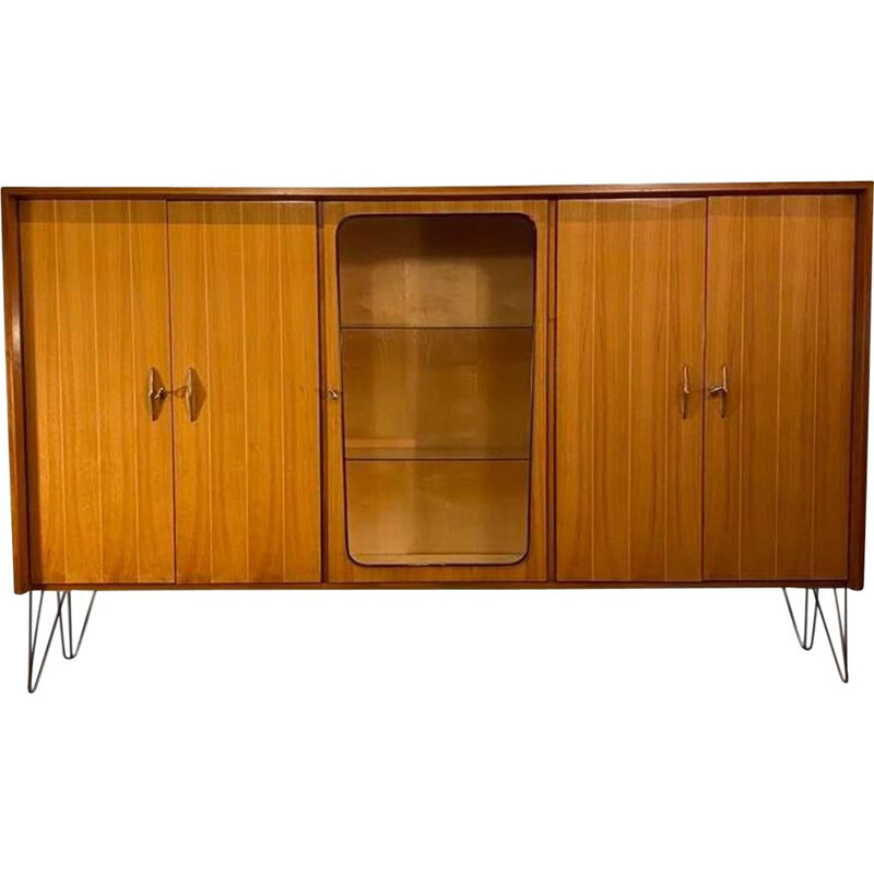Vintage bookcase on legs 1960s