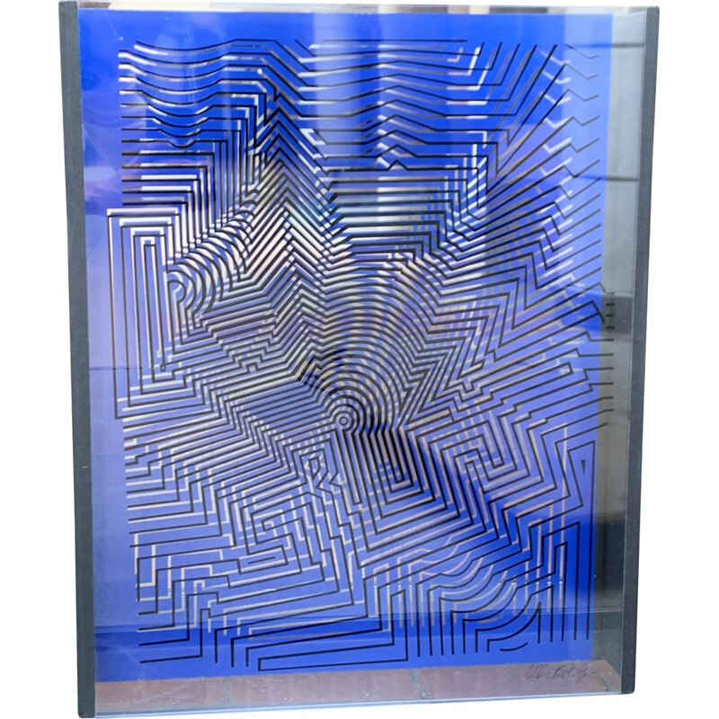 Vintage sculpture by Vasarely 1975s