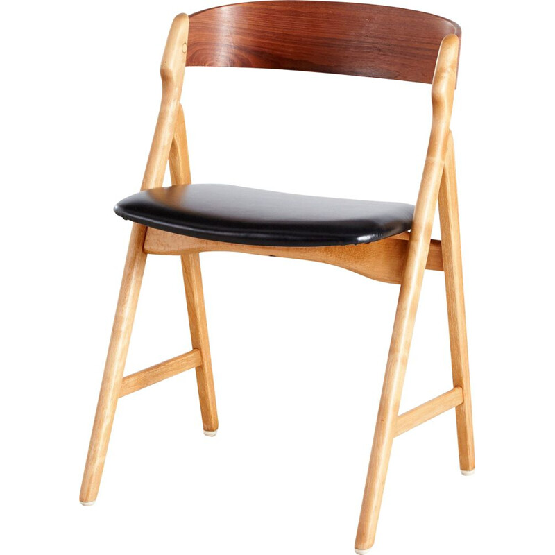 Vintage Danish teak chair model 71 by Henning Kjærnulf 1960s