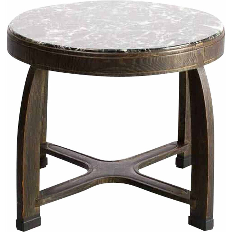 Vintage  coffee table round 1930s