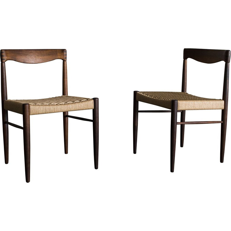 Vintage rosewood chairs Henry Walter Klein Denmark