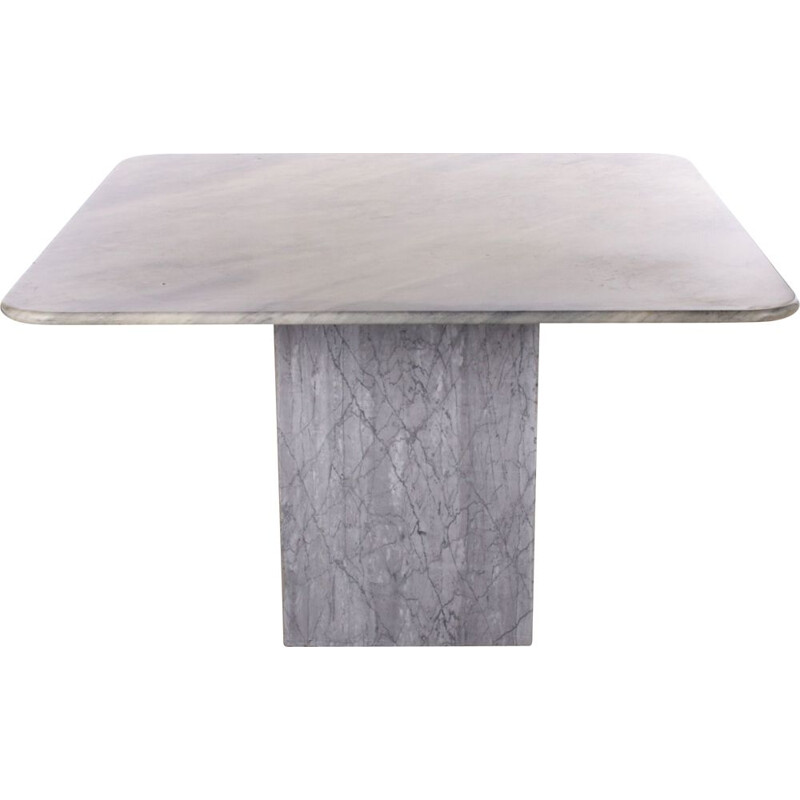 Vintage grey marble table 1980s