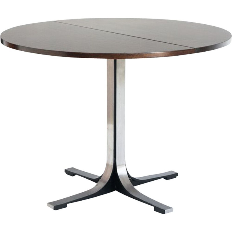Vintage table with extension leaf by Osvaldo Borsani Italy 1970s