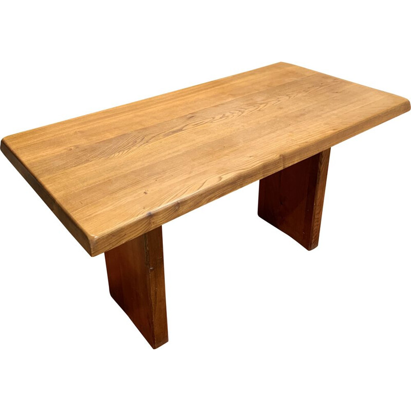 Vintage table T14 by Pierre Chapo 1970s