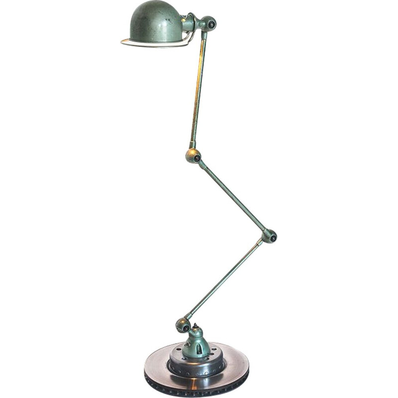 Vintage Jielde lamp with three arms by Jean-Louis Domecq France 1950s