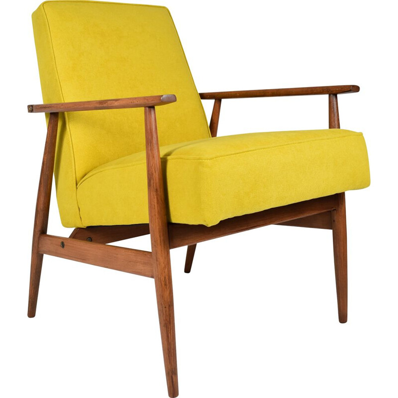 Vintage armchair type 300-190 yellow by Henryk Lis 1970s
