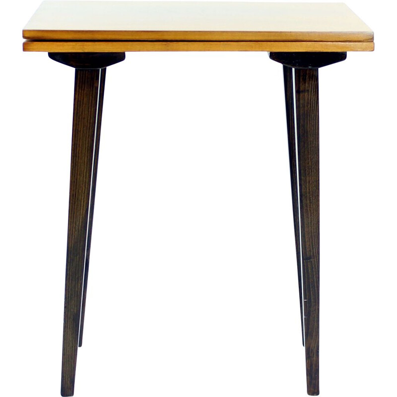 Vintage Large  side table with turntable Czechoslovakia 1960s