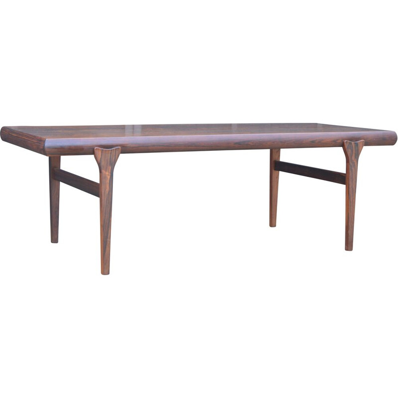 Vintage rosewood coffee table by Johannes Andersen 1960s