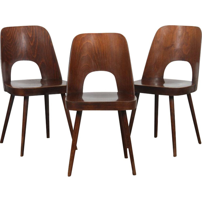 Set of 3 vintage chairs by Oswald Haerdtl 1960s