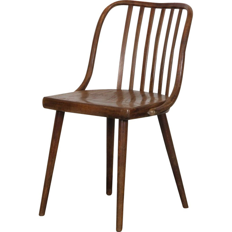 Vintage wooden chair by Antonin Suman 1960s