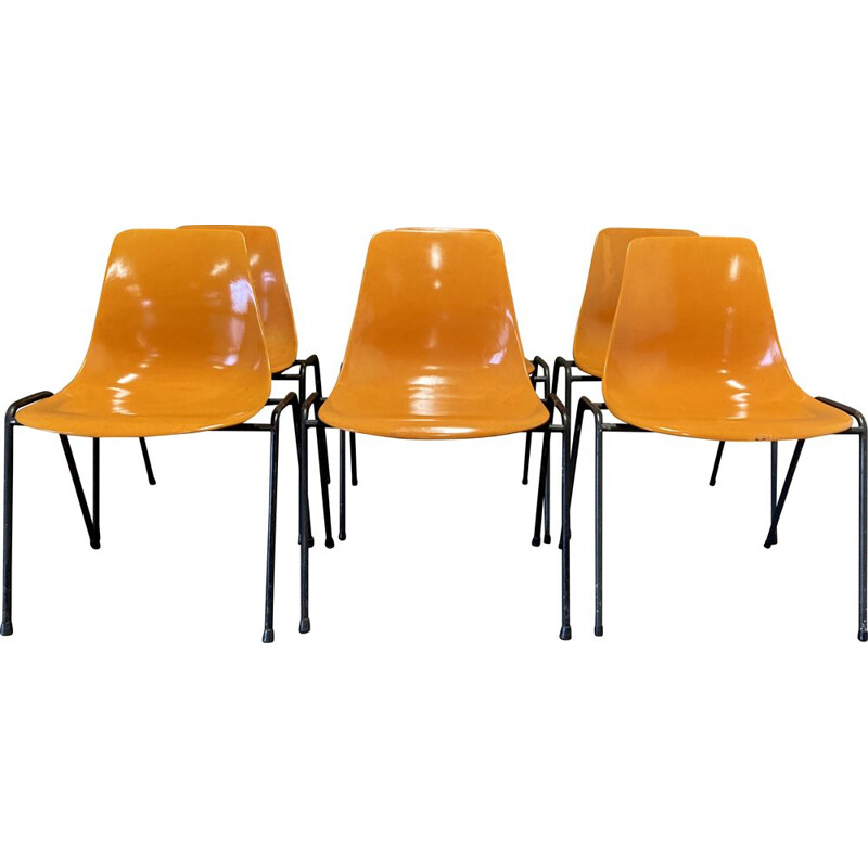 Set of 6 vintage chairs by Georg Leowald 1960s