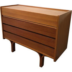 Dresser in ash wood and mahogany, Joseph André MOTTE - 1950s