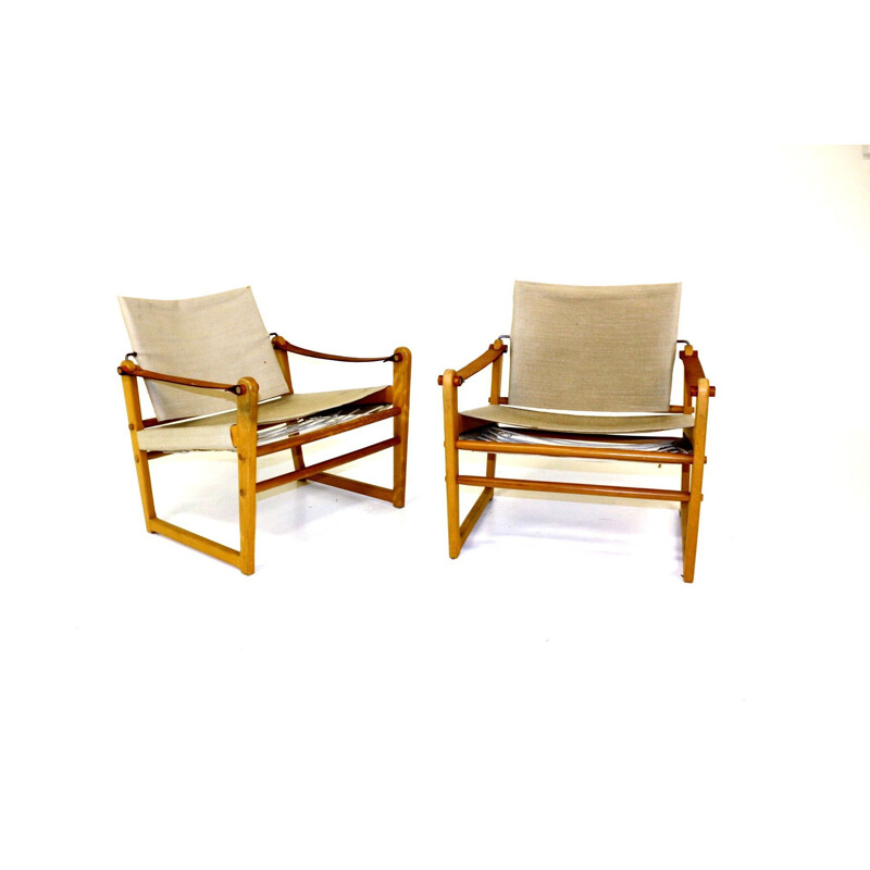 Pair of vintage armchairs Sweden 1960s