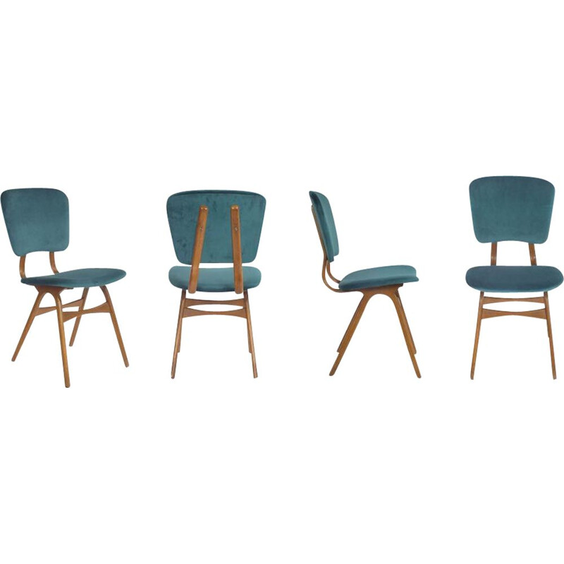 Set of 4 vintage chairs 1950s