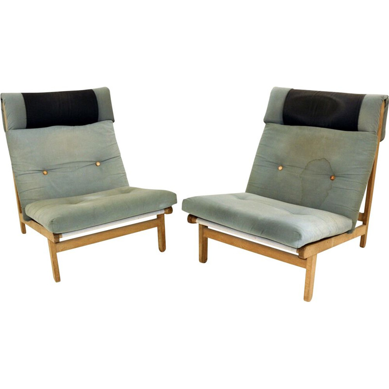 Pair of vintage armchairs by Bernt Pedersen Denmark 1960s