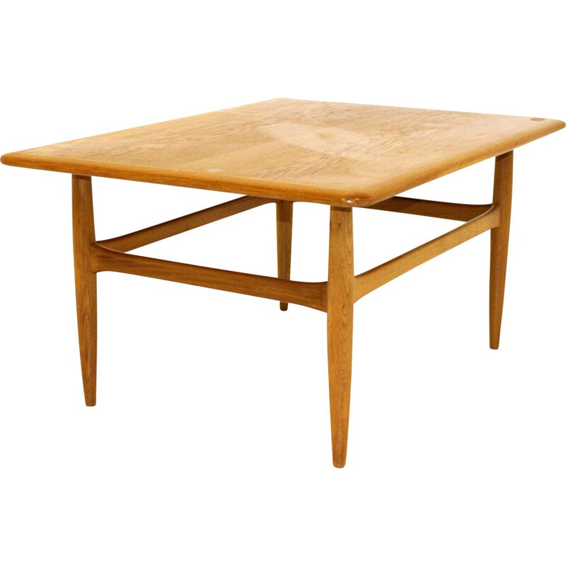 Vintage oak coffee table Kurt Östervig Denmark 1960s
