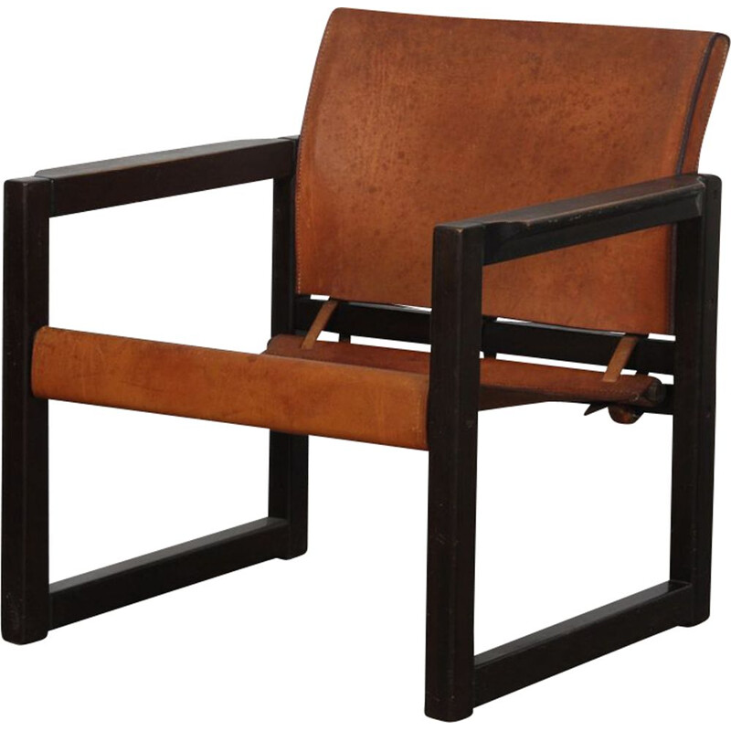 Vintage leather armchair by Mobring 1970s