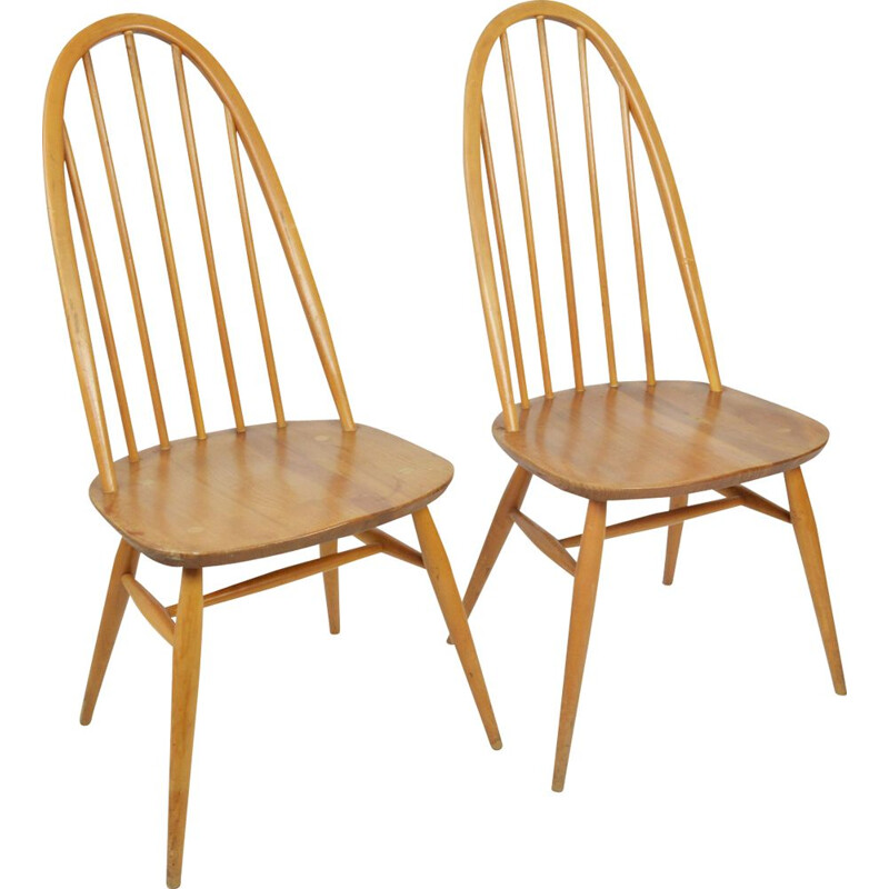 Pair of vintage Quaker chairs by L. Ercolani 1960s