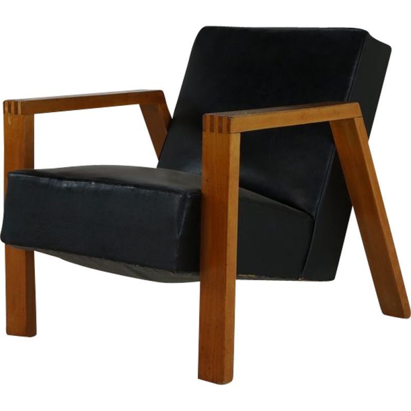 Vintage Dutch lounge chair by Goed Wonen Holland 1946s