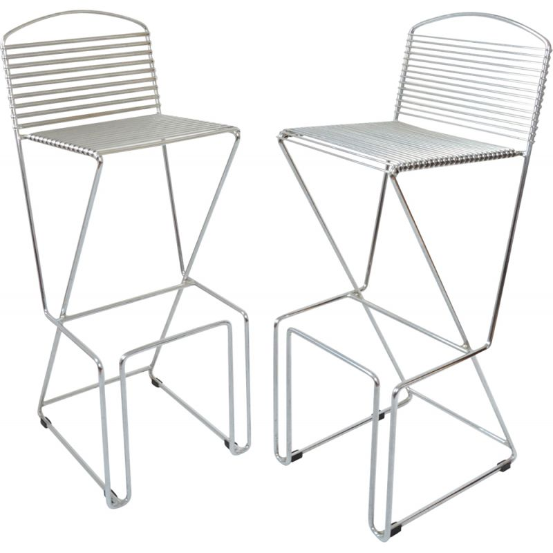 Pair of vintage bar stools by T. Behrens 1980s