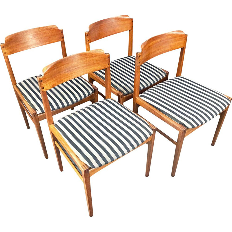 Set of 4 vintage chairs Denmark 1960s