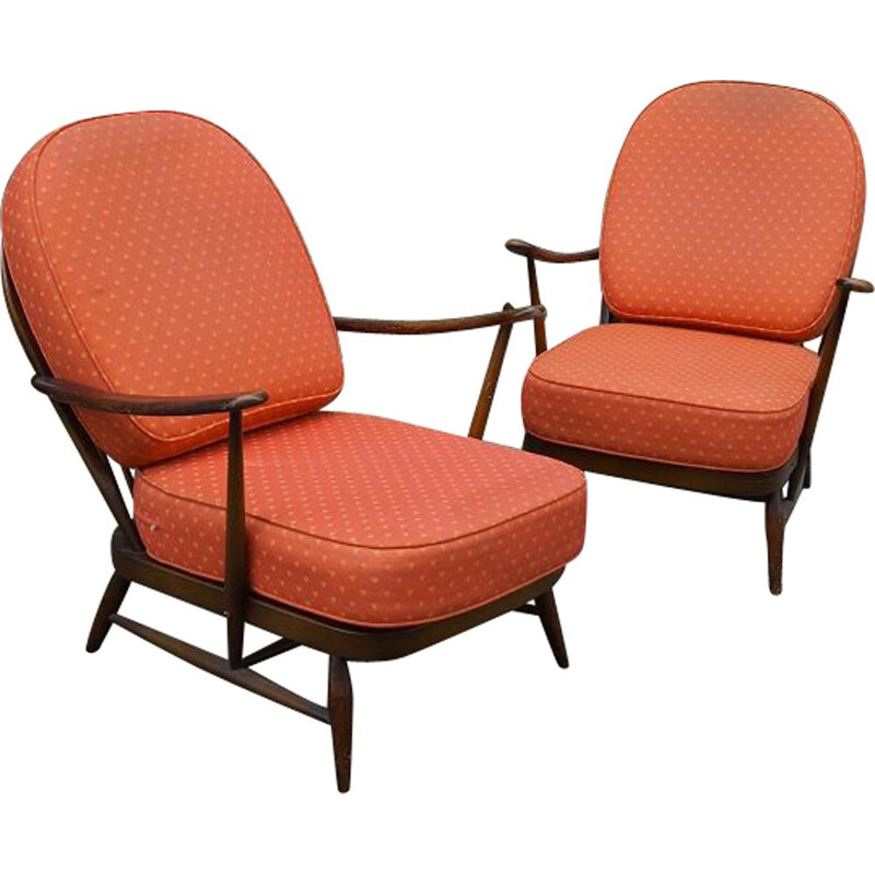 Pair of vintage armchairs by Lucian Ercolani 1960s