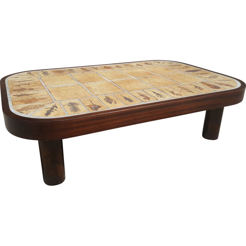 Vintage coffee table by Roger Capron 1965s
