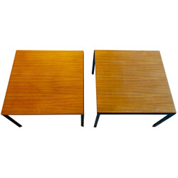 """Pair of coffee tables """"T-table"""", Florence KNOLL - 1960s"""