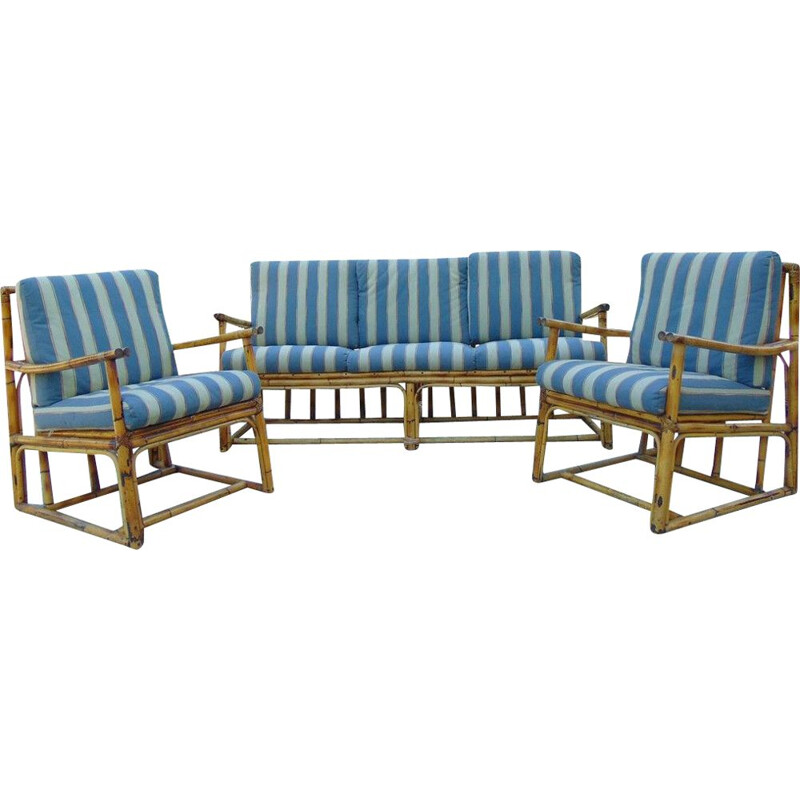 Vintage living room set with removable cushions 1970s