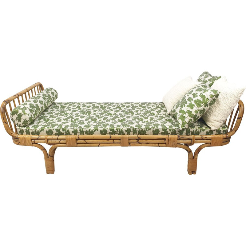Vintage Mid-Century Italian Bamboo Daybed, 1960s