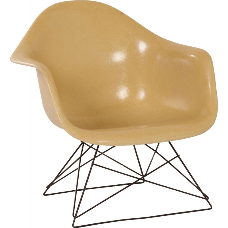Vintage LAR armchair in fiberglass by Charles and Ray Eames 1970s